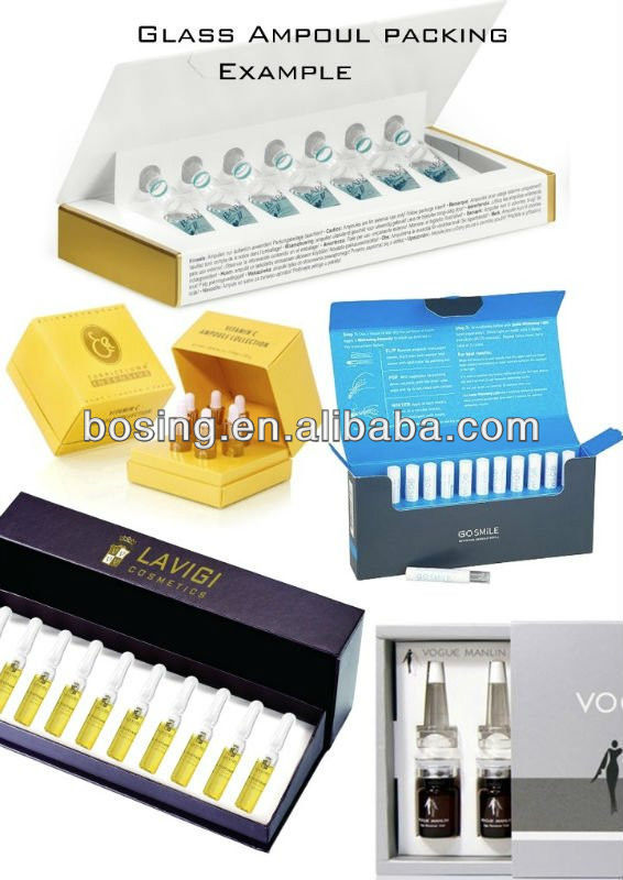 Glass Ampoul packing, Cosmetic packaging
