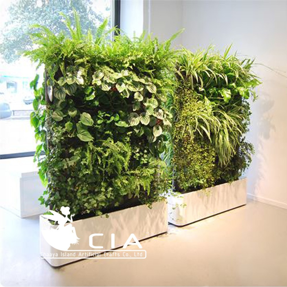 Free-standing landcaping vertical plants wall artificial spring garden project