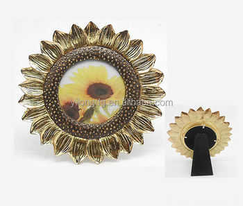 sun flower shape photo frame