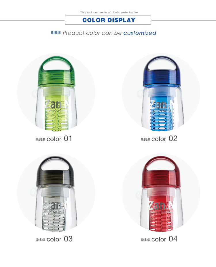 Promotional new shaped design BPA Free tritan plastic infused fruit water bottle with logo