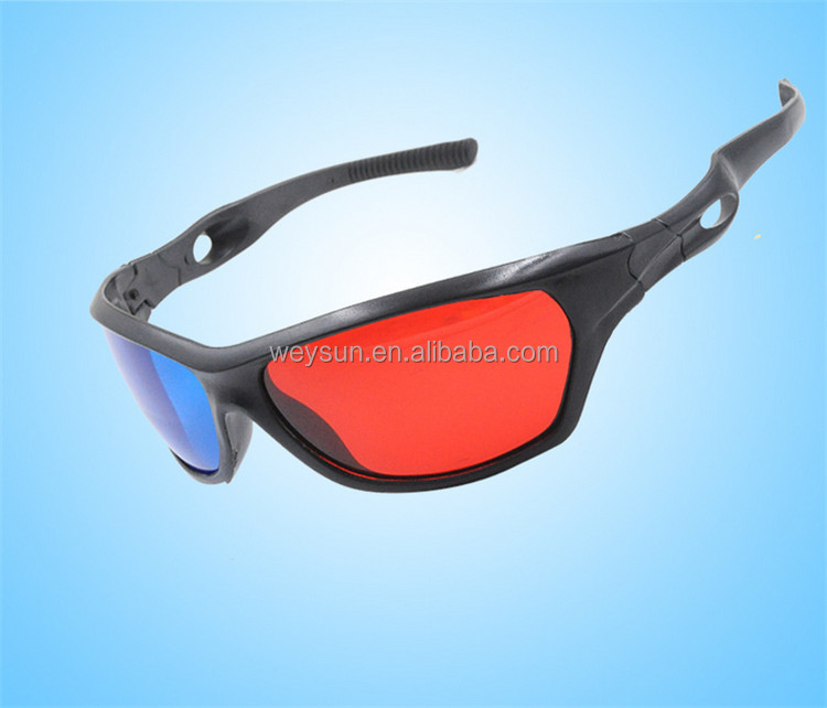 Universal 3D Plastic glasses Red Blue Cyan Plasma Movie Game 3D Dimensional Anaglyph Framed Vision Glasses