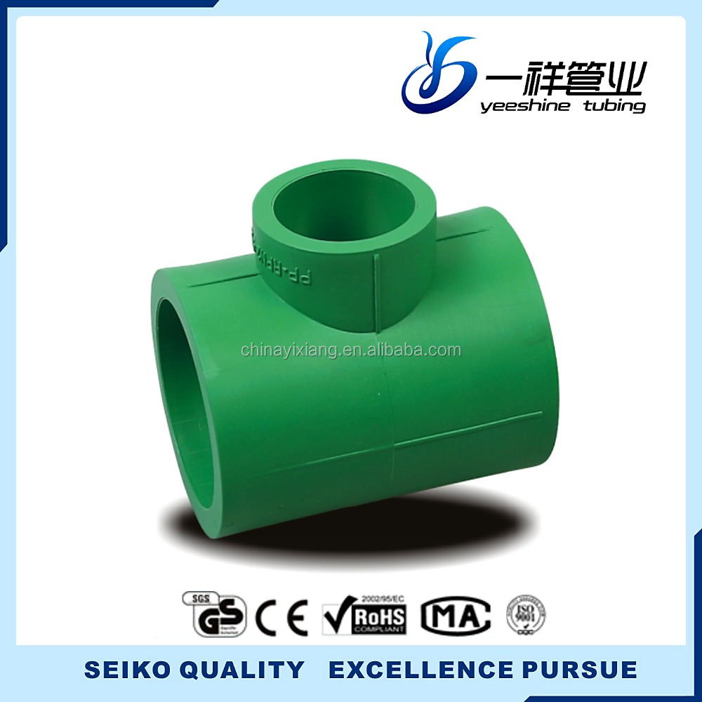Excellent service PP-R green reducing Tee/Coupling/Elbow/Union