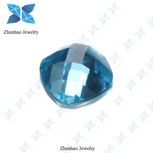 Loose Checkboard Facets Flat back Cubic Zirconia Gemstone