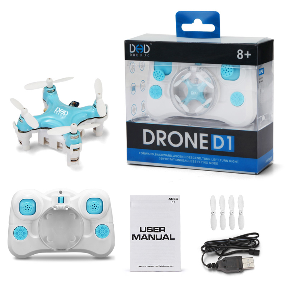 F16227/8 JJRC DHD D1 Supper Mini Pocket Drone 2.4G 4CH Smallest RC Copter Headless Mode 6-axis Gyro RC Quadcopter Toy Gift FS