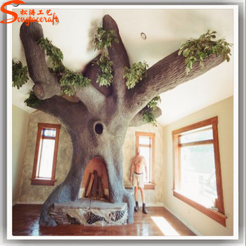 Decoratives Tree On Wall Artificial Home Decor Tree Trunk For Wall