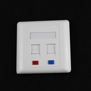 Manufactory outlet high qualitycompetitive price network cat6 2 port face plate