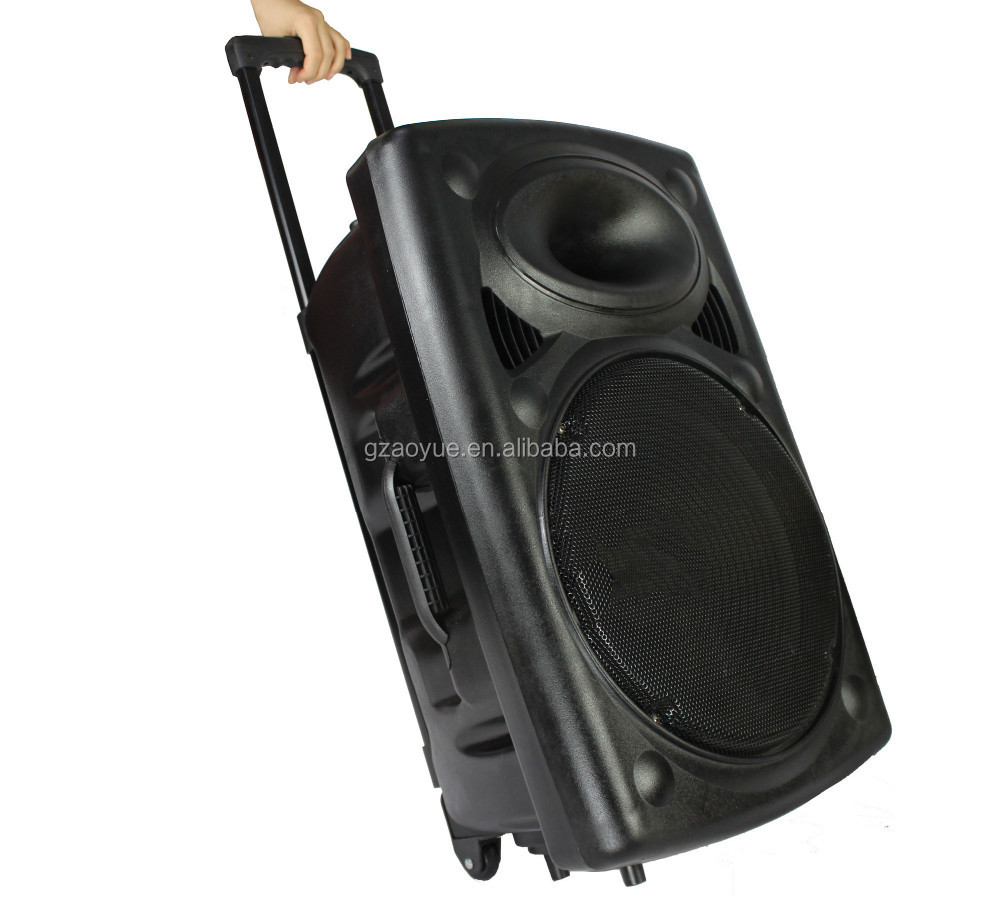 China Factory 15 Inch Portable Active Trolley Speaker For ...