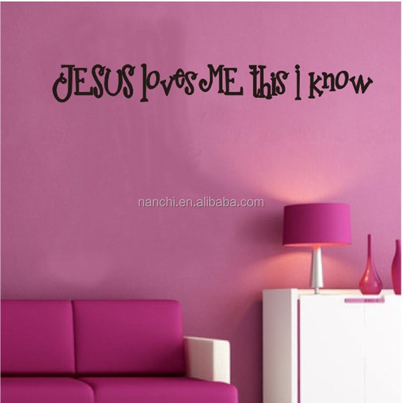 ... Jesus loves me Jesus English proverbs wall stickers Australia typesetting paper exit wall decals abstract pattern & Jesus Loves Me Jesus English Proverbs Wall Stickers Australia ...