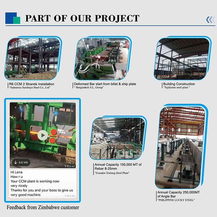 Çelik Yapım Sürekli Döküm Makinesi İçin Slab Kütük CCM