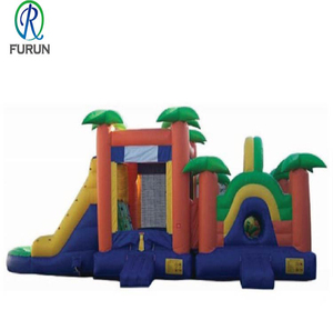 Backyard Open Air Slide Toy Inflatable Combo Obstacle Course