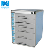 Industrial Large 6 Drawer Metal File Storage Cabinet with Lock and Notepad