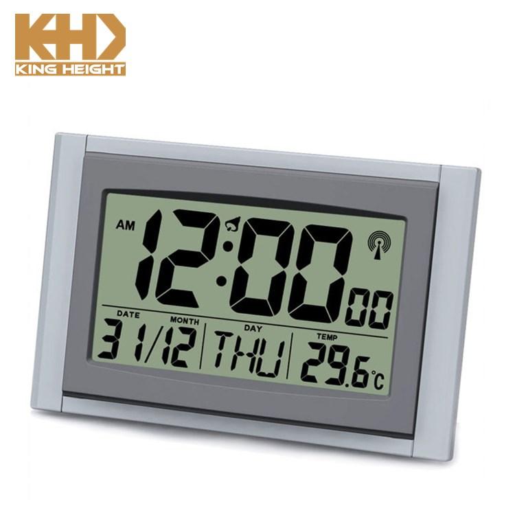 Kh-cl105 Analog Calendar Alarm Office Newest Design Large Rcc Digital Desk  Plastic 24 Hour Bulk Wall Clock - Buy Rcc Wall Clock,Office Wall