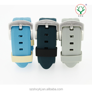 2016 High quality custom wholesales silicone rubber waterproof metal co-molding watchband