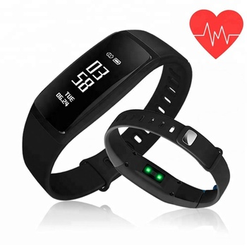 FITUP V07S OLED IP67waterproof wireless heart rate monitor smart watch elegant smartwatch with step count function