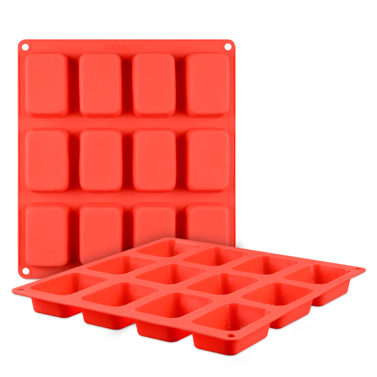 Best selling products 2018 in usa 12 cavity rectangle silicone soap molds custom silicone molds bar soap molds
