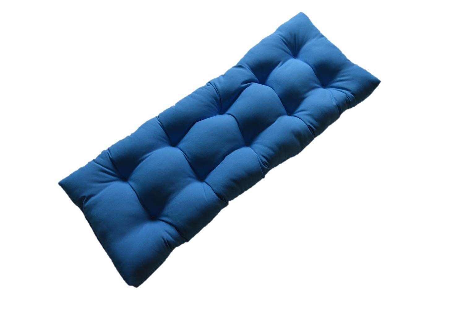 """Pool Blue Solid Tufted Cushion for Bench, Swing, or Glider - Choose / Select Size (60"""" X 18"""")"""