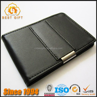 Guangdong Manufacturer Good Quality Quick Delivery Custom Leather Money Clip Wallet