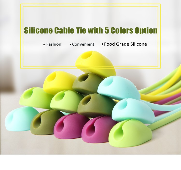 high quality and recycled/Fiexible silicone cable tie