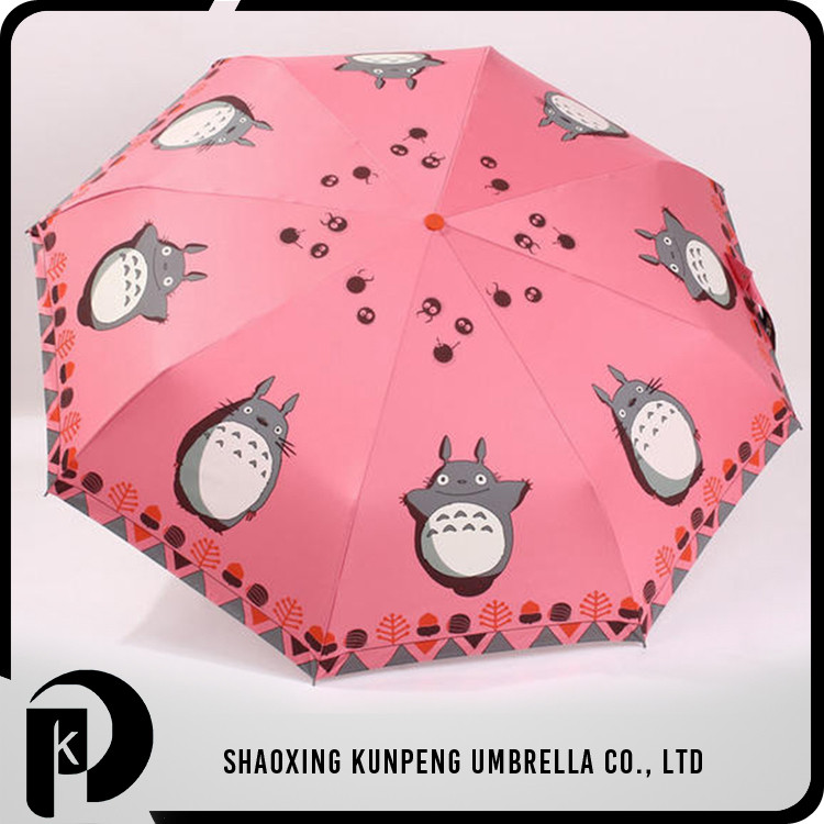 Customized Waterproof Widely Use Anime Umbrella