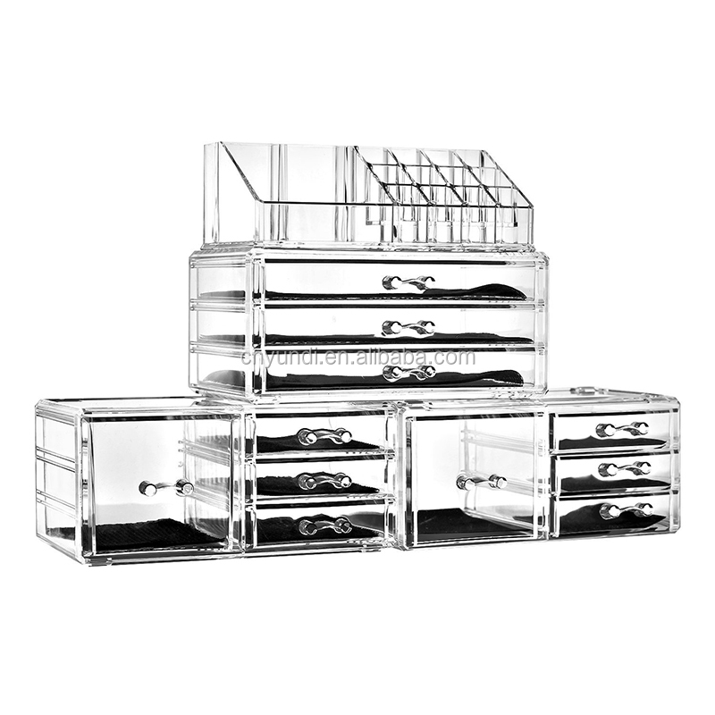 Home Acrylic Jewelry and Cosmetic Storage Makeup Organizer