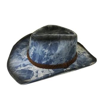 Western Plain Dyed Image Blue Denim Cowboy Hat - Buy Image ... 112c67a9e53