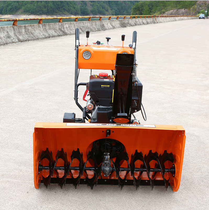 High-capacity automatic electric start hand held power snow sweeper for sale