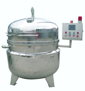 Vacuum low temperature cooking jacketed pots/Heat transfer oil jacketed kettle
