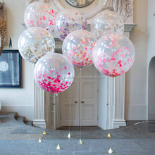 "36"" Confetti Balloon Giant Clear Balloons For Wedding Birthday Party"