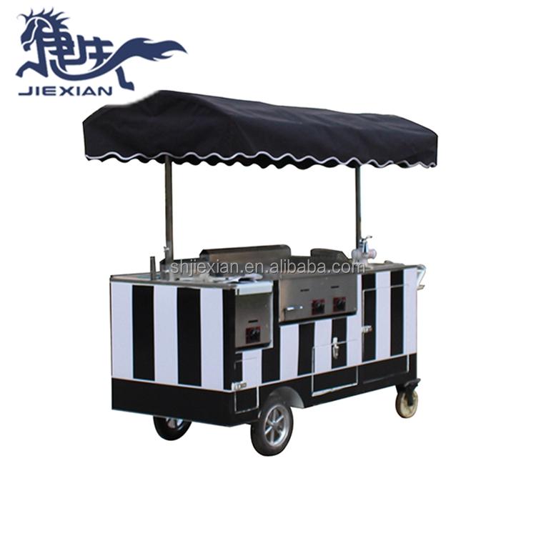 JX-CR180 soft Ice cream máquina de vending/mini vending carrinho de comida carrinho