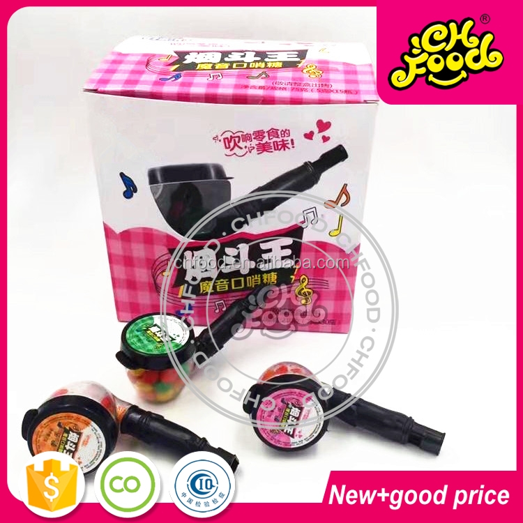 New Design Tobacco Pipe Whistle Candy Toy