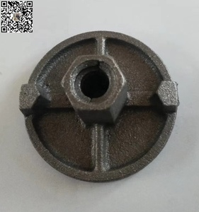 Construction Concrete Formwork Tie Rod Wing Nut with plate for 15/17mm tie bar