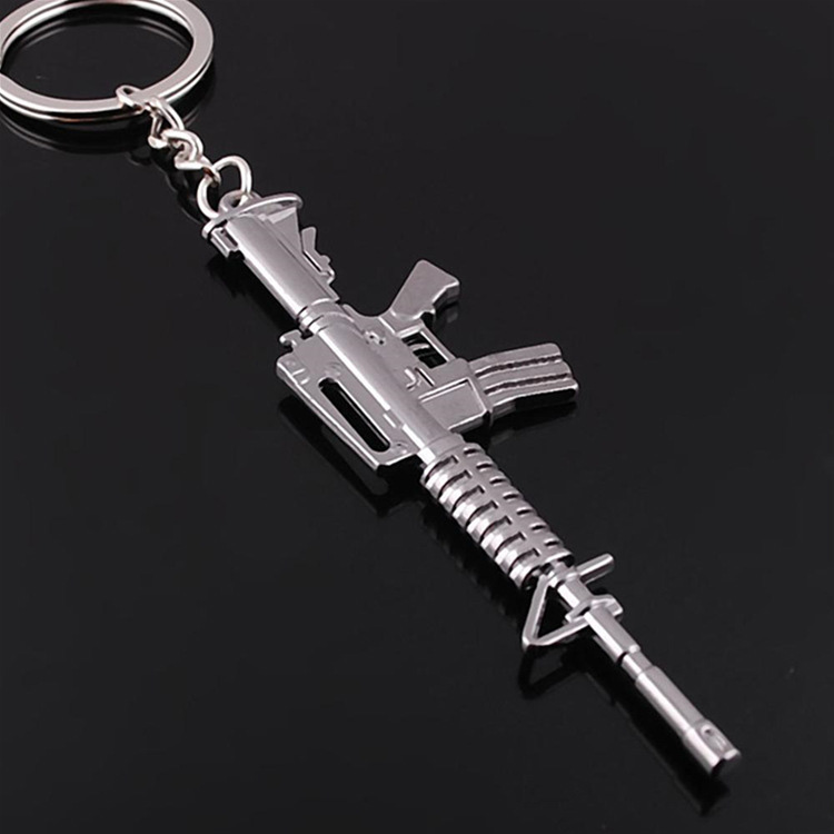 Popular Gun Chaveiro Hot Jogo CS Counter Strike CF Cross Fire Gun Forma De Metal Keychain