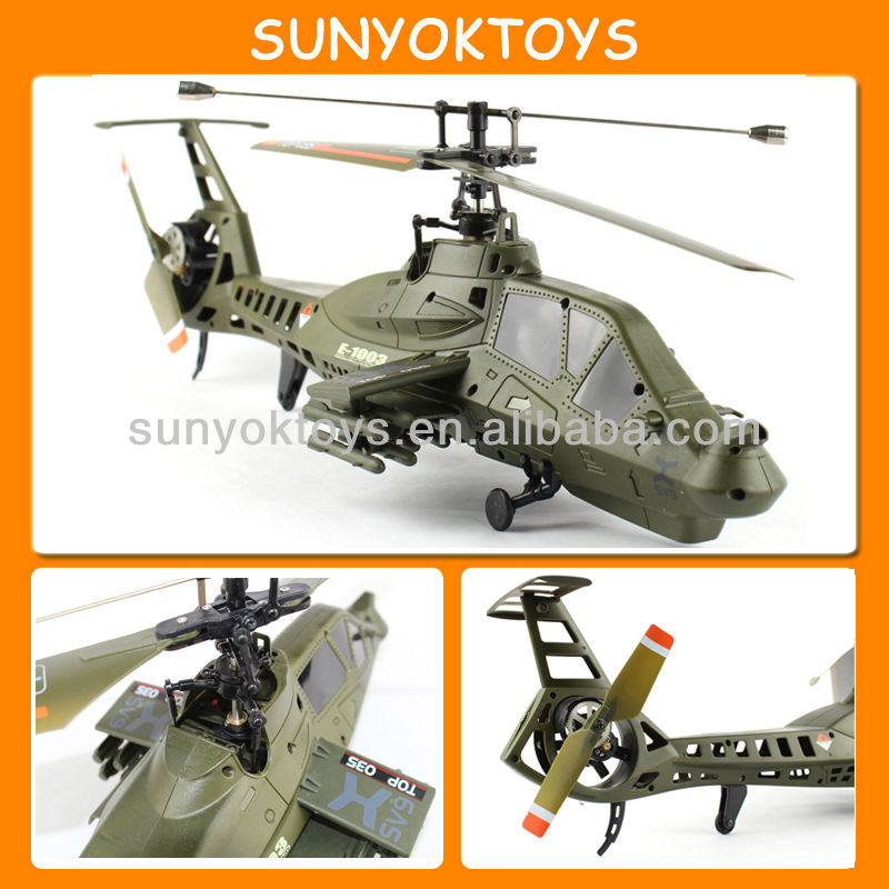 New Design! Simulation Comanche Single Blade Middel RC Helicopter 4CH with Gyro