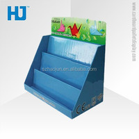 3 Layers Promotional Cardboard Pallet Tray Display for books