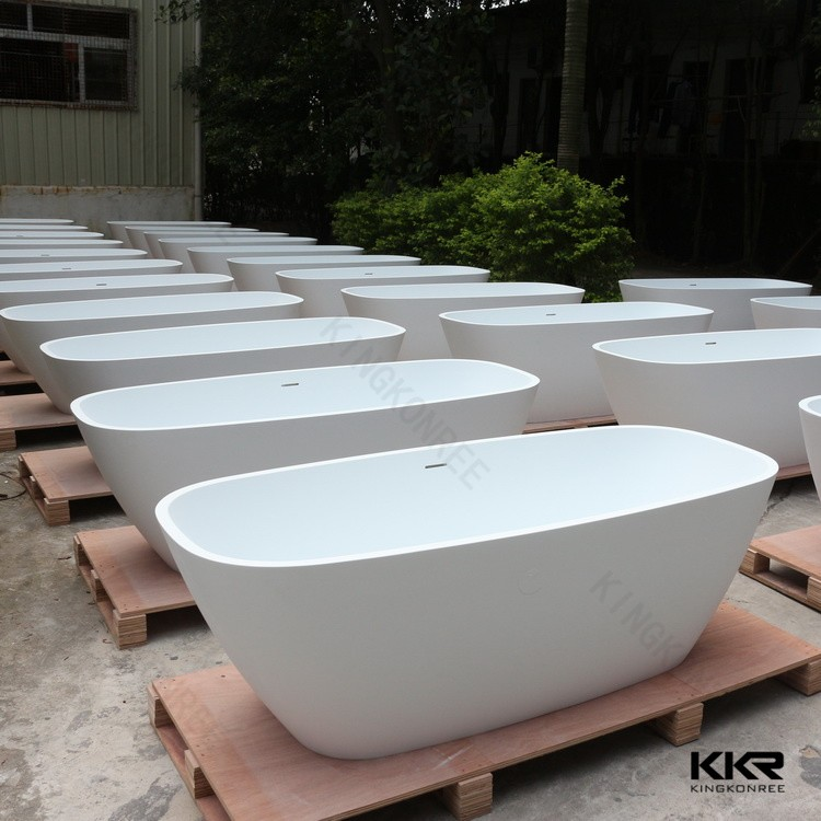 Solid surface bathtub, Stone freestanding resin bathtub,indoor soaking Tub