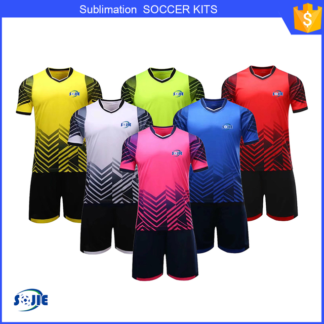 Top quality sublimation customized football jersey