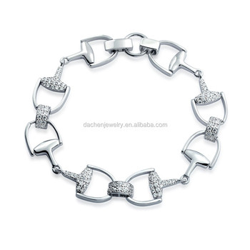 901aed187 Wholesale Horse Jewelry, Sterling Silver Equestrian Horse Bit Link Bracelet