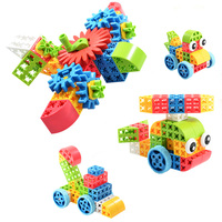 3d plastic building block connecting bricks toys for kids
