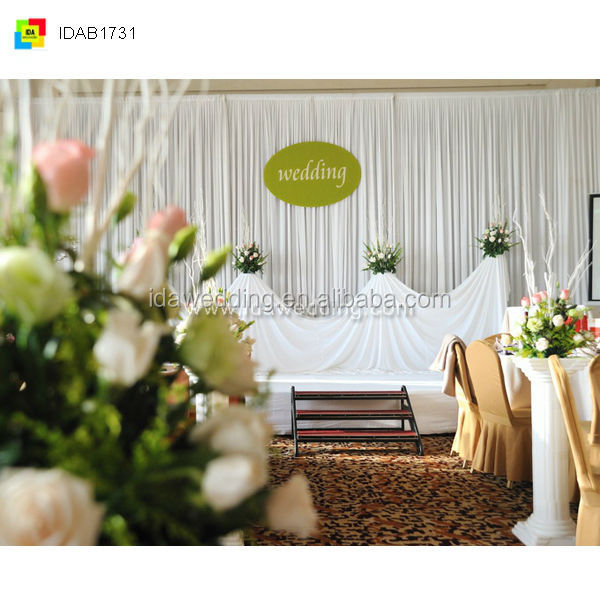Simple Gorgeous Wedding Dresses Venue Stage Decoration Beach Jungle Theme