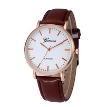 Fashion Hot Selling Men Luxury Roman Big Dial Leather Strap Quartz Movt Watch