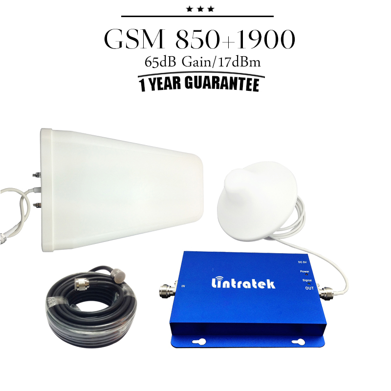 For USA Canada Mexico GSM 850mhz PCS 1900mhz Dual Band Cell Phone Signal Booster CDMA 850