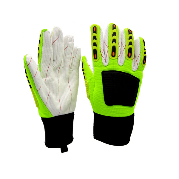 Special Section Nmsafety 2 Pairs Anti Vibration And Shock Safety Glove High-visibility Anti Impact Resistant Mechanics Work Gloves Strong Packing Safety Gloves Security & Protection