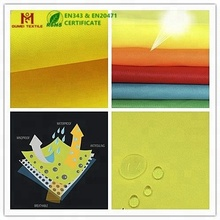 EN certification fluorescent PU milky coated 300d waterproof oxford fabric
