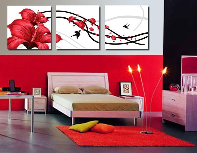 affordable excellent tableau moderne grand format salon rouge chambre peinture achetez des lots. Black Bedroom Furniture Sets. Home Design Ideas
