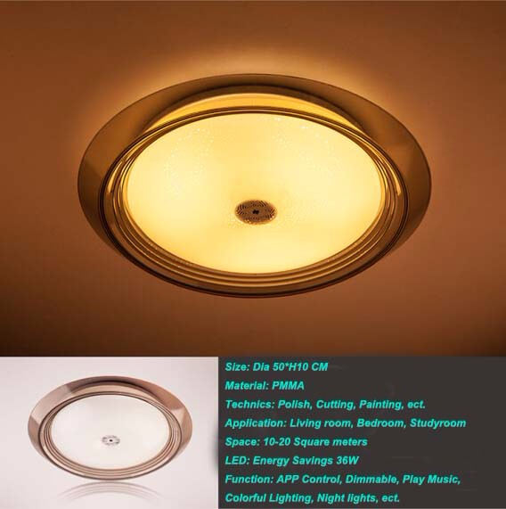 2016 Smart Wireless Bluetooth Downlight Led Ceiling Light Music ...