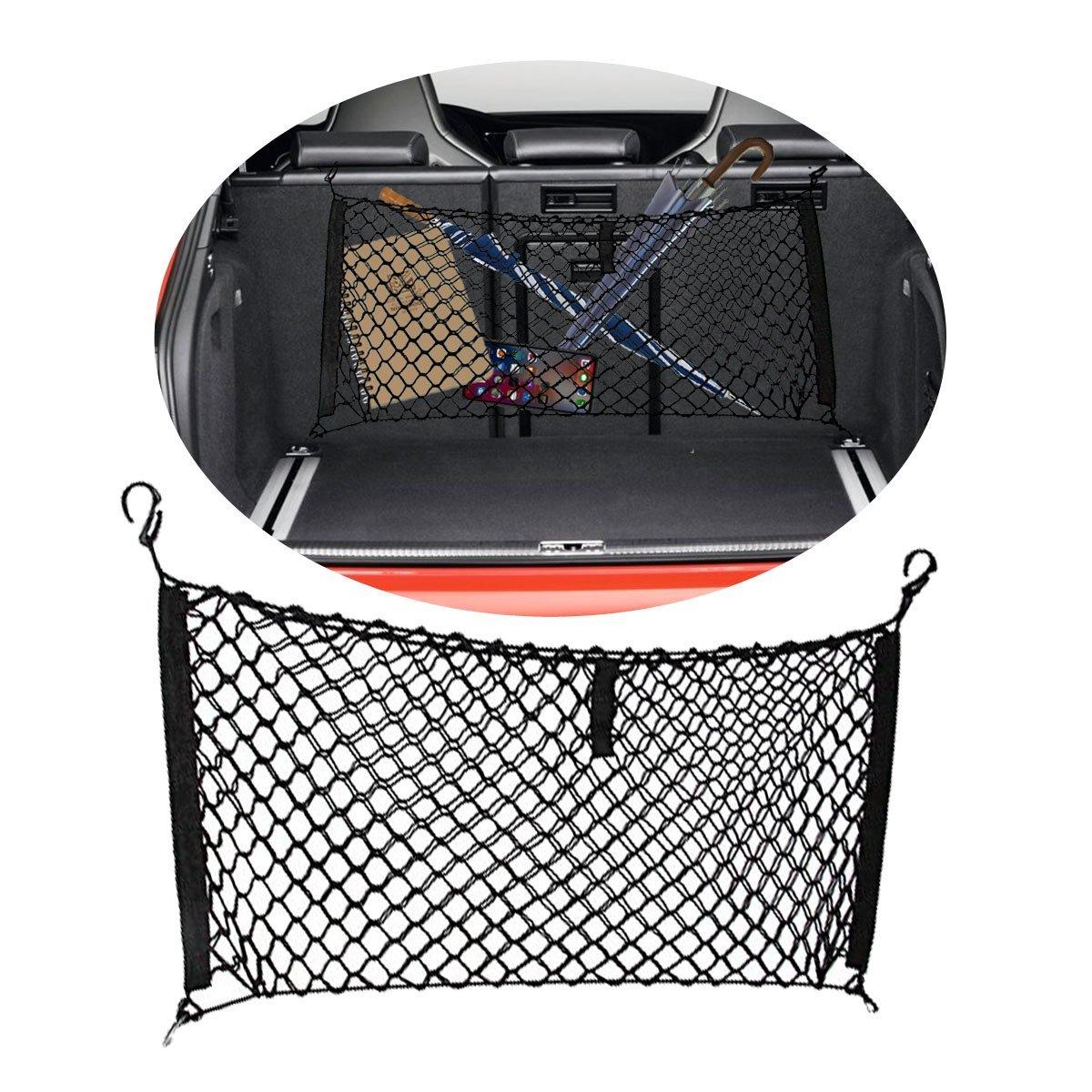 VaygWay Black Car Trunk Mesh Organizer Net Vehicle Storage Hammock