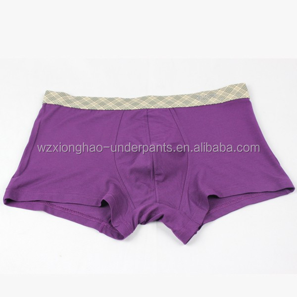 Leading products nylon spandex mens underwear without logo