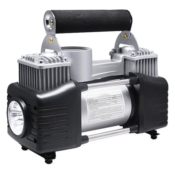 12V DC çift silindir lastik şişirme 150 PSI yüksek basınçlı hava pompası taşınabilir araba hava kompresörü ile LED ışık