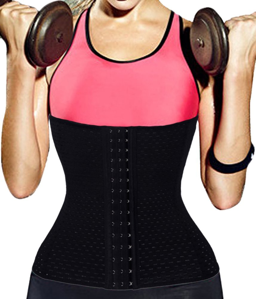 9c45f7d44c Get Quotations · 3-5 Days Delivery 28cm Long Torso Waist Trainer Corset for Weight  Loss Slimming Workout