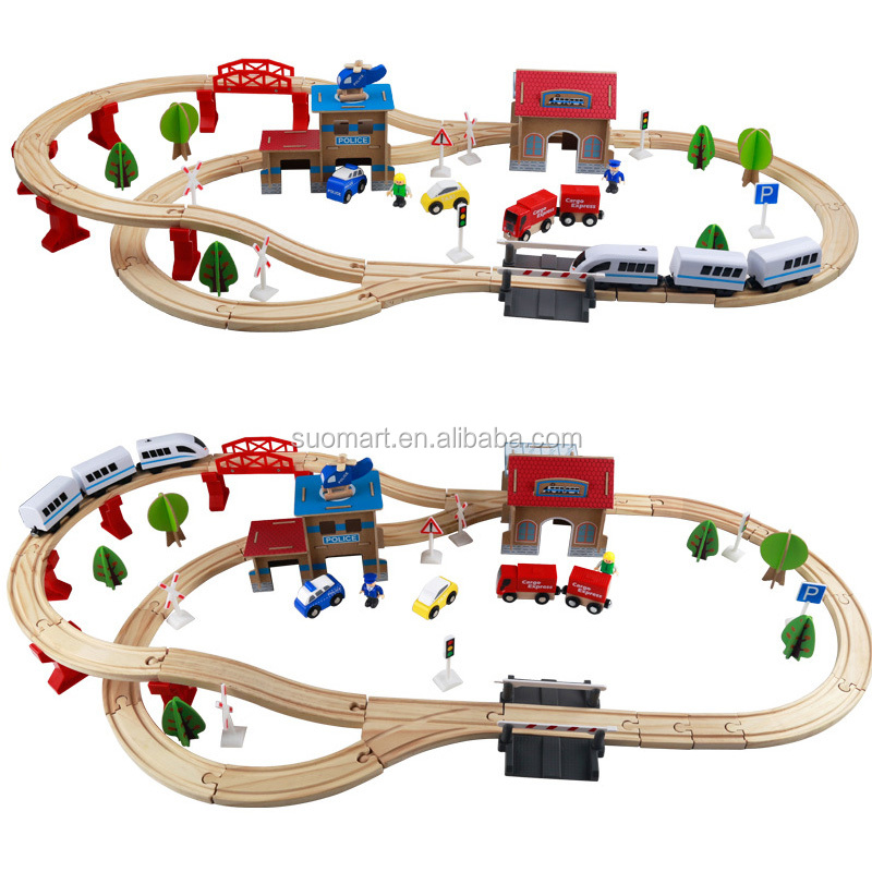 88pcs wooden rail track Toys Thomas the train set